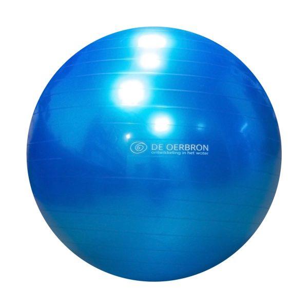 Oerbron blauwe Birth bal met oerbron logovoor zwangeren
