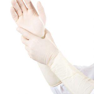 Oerbron gynaecologische lange handschoenen tot de elleboog