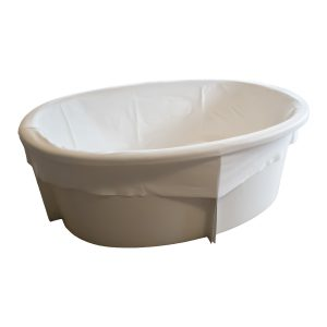 Ovaal Bevalbad met zitje van glasfiber voor een waterbevalling